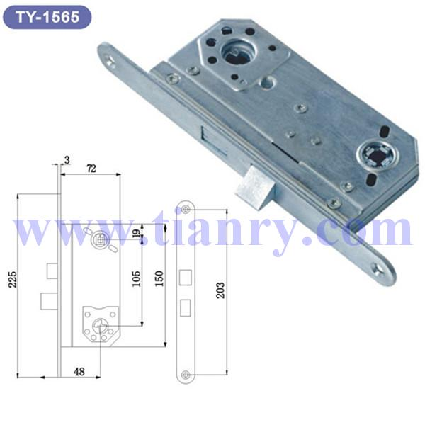 105 Steel Door Lock Body With Zinc Plated